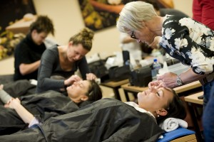 Geldermalsen 08-04-2015 Cursus Docendo Make-up en camouflage, iov Docendo, ZDG. Foto Rapha'l Drent, Tiel.